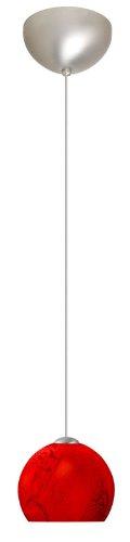 Palla 1 Light Mini Pendant Finish: Satin Nickel, Glass Shade: - Palla 5 Mini Pendant