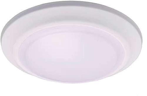 Cloudy Bay Microwave/Radar Motion Sensor Detect Light,12W 3000K Warm White,7.5 inch LED Flush Mount Ceiling Light Fixture for Garage,Walk-in Closet,Attic,Laundry