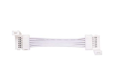 Cut-End to Cut-End Snap Extension Connectors for Philips Hue Lightstrip Plus (2 inch/50 mm, 4 Pack, White)