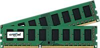 Crucial 4gb Kit (2gbx2) Ddr3ddr3l-1600 Mts (Pc3-12800) Sr X8 Ecc Udimm Server Memory Ct2kit25672bd160b Ct2cp25672bd160b