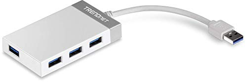 TRENDnet 4-Port USB 3.0 Compact Mini Hub with Built in USB 3.0 Cable, Plug & Play, Compatible with: Linux, Windows, Mac, Nintendo Switch, Backwards Compatible with USB 2.0, TU3-H4E