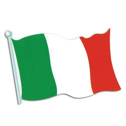 Italian Flag Cutout Party Accessory (1 count) -