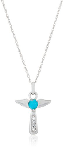 uoise Angel Heart Pendant Necklace, 18