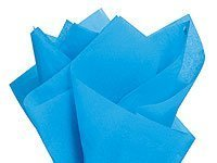 "Brand New Turquoise Bright Blue Bulk Tissue Paper 15"" x 20"" - 100 Sheets"