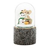 Charming Tails Mouse and Snowman Glitter Dome Snow Globe Water Globe