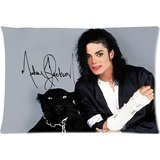 [Michael Jackson With Dog Custom Zippered Square Pillow Case Pillowcases Size:20
