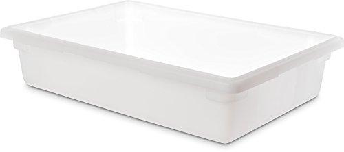Carlisle 1064102 StorPlus Polyethylene Food Storage Box, 8.5 Gallon Capacity, White (Case of 6) by Carlisle