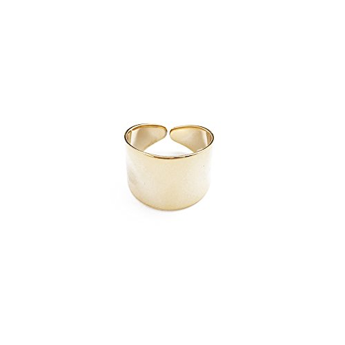 HONEYCAT Thick Wrap Open Band Ring | Minimalist, Delicate Jewelry (Gold Wide Band Ring)