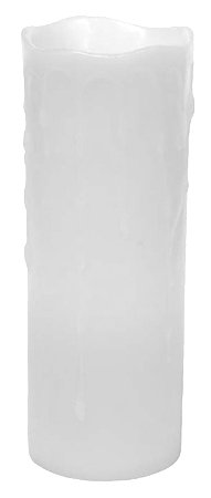 White Wax Drip Flameless Battery Candle by Melrose International - 3x8