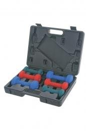 Sunny Neoprene Dumbbell Set with case (2-5 Pounds)