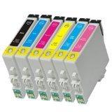 6 Pack Ink Cartridges for Artisan 600,Artisan 700, Artisan 710, Artisan 800 , Artisan 810 (Compatible T098 - T0981 Bk, C, M, Y, Lc, Lm)