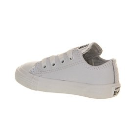 Converse Chuck Taylor All Star Junior White Leather Trainers White Monochrome