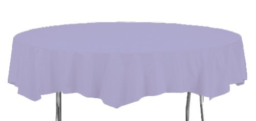 - Creative Converting Touch of Color Octy-Round Paper Table Cover, 82-Inch, Luscious Lavender