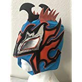 Kalisto lucha dragons kids mask Blue W/ orange sin cara mil LUCHA ()