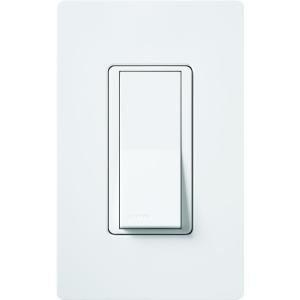 Lutron CA-1PS-WH Light Switch Claro Decorator Rocker Switch
