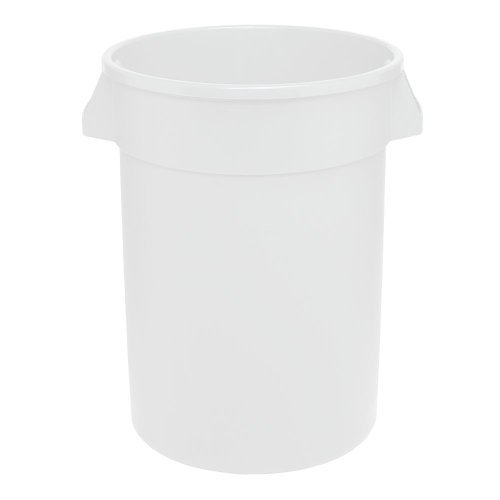 (Continental 2000WH 20-Gallon Huskee LLDPE Waste Receptacle, Round, White)