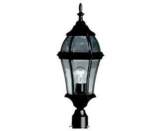 KICHLER 9992BK Townhouse Outdoor Post Mount 1-Light, Black