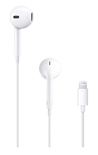 OEM Apple Original Headphones for iPhone 7, 8, X (Plugs into Lightning  Connector, NOT 3.5mm Audio Jack) (Renewed)