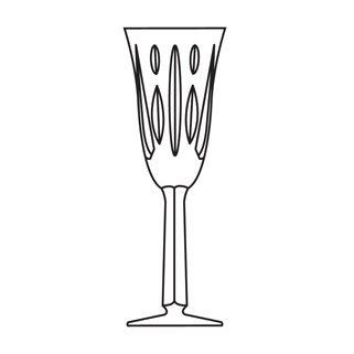 Special Order Stemware - Powerscourt Stemware - Special Order Continental Champagne Glass