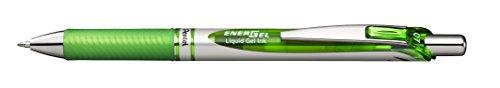 Pentel EnerGel RTX Retractable Liquid Gel Pen, (0.7mm) Metal Tip, Medium Line, Lime Green Ink, 12 pack (BL77-K)