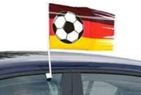 Deutschland Fu/ßball Autofahne Autofensterfahne Autoflagge Fussballfahne f/ür Autofenster
