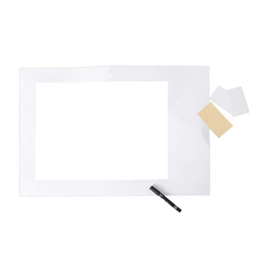 Amosfun Blank DIY Paper Picture Frame with Pen Cutouts Photo Booth Props Party Supplies for Graduation Wedding Birthday (Large Size)