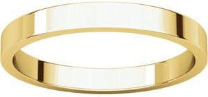10k Yellow Gold 2.5mm Flat Band Ring