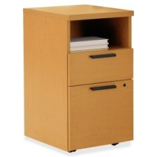 HON 10500 Series Laminate Desk Ensembles-Mobile Pedestal, Shelf/B/F,15-3/4