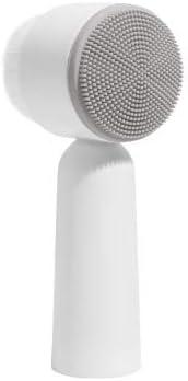 フェイスケアボディシャワーのために韓国スタイルシリコーンスーパーファインファイバースキンクリーニングブラシマッサージシャワー洗浄ブラシバスルームアクセサリー (Color : Gray)