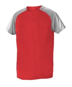 Alleson Athletic Boy's 2 Button Henley Baseball Jerseys Medium (Alleson Baseball Jersey)