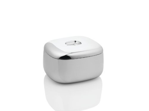 Alessi Ovale Double Wall Ice Bucket with Lid 9.5'' X 8.25'' X H.5.5'', 3qt 16.25oz by Alessi