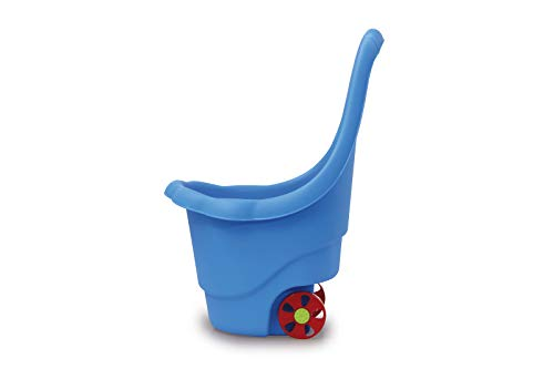 (JAMARA Rolly Ron 460425 Toy Trolley for Storing or Transporting Toys 15 kg Load Sturdy Plastic Easy to Clean with Handle Blue)