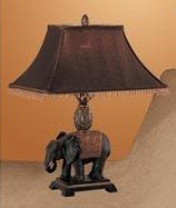 Beutiful Table Lamp with a Dark Brown Color Shade and Bronze Elephant Base Pd11#f5231 Bronze Living Room Sofa Table