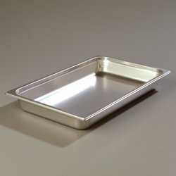 Carlisle 608002 DuraPan Steam Table Pans, Set of 6 (Full-Size, 2 1/2-Inch, Stainless Steel, ()