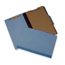 Recycled Reinforced - SKILCRAFT 7530-01-523-4594 Recycled Reinforced Top File Folder with 4 Part and 1 Divider, 2-Inch Expansion, Letter Size, Earth Red