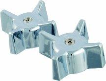 - Chrome Tub & Shower Faucet Handle - Gerber Hot & Cold Handle Pair - Gerber GE32540