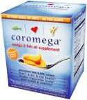 natural wealth omega 3 - Coromega Omega-3 Fish Oil Squeeze Packets, DHA and EPA, Orange Flavor, 30-Count Box