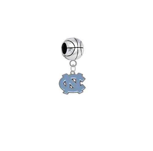 North Carolina Tar Heels Basketball 3D Universal European Bracelet Charm