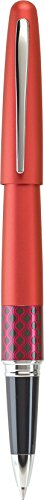 Pilot MR Retro Pop Collection Gel Roller Pen, Red Barrel with Wave Accent, Fine Point, Black Ink (91402)