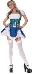 Beer Girl Sexy Costumes (Underwraps Women's Gretchen, Blue/Green/White, Small)