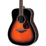 Yamaha FG730S Solid Top Acoustic Guitar - Rosewood, Tobacco Brown Sunburst