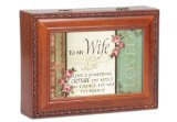 To My Wife Eternal Love Woodgrain Cottage Garden Traditional Music Jewelry Box Plays Unchained Melody