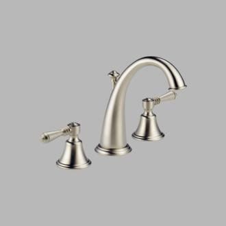 (Brizo Providence: Two Handle Widespread Lavatory Faucet - Less Handles)