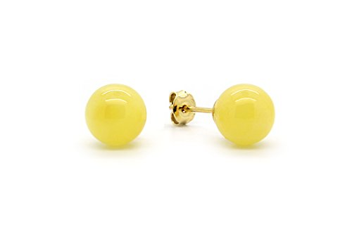 Amber Sterling Silver Stud Post - 7
