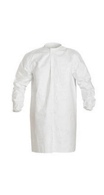 Dupont IC270BWHXL003000 Tyvek IsoClean Frock, White, XL, Bulk Packaged (Pack of 30)