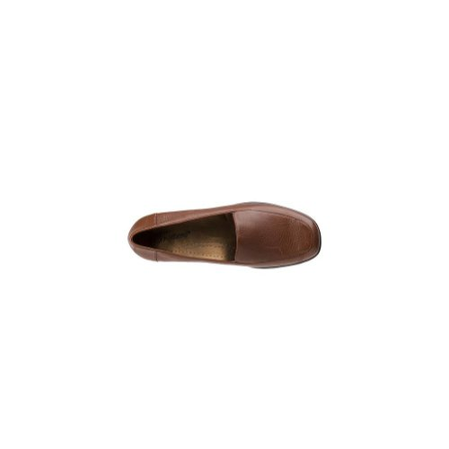 Frauen Brown Soft Leder Tumbled Loafers Trotters Mid v7wFqvd
