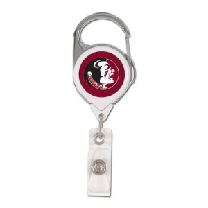 Wincraft NCAA Florida State Seminoles Retractable Premium Badge Holder, Team Color, One - Reel Fsu Badge