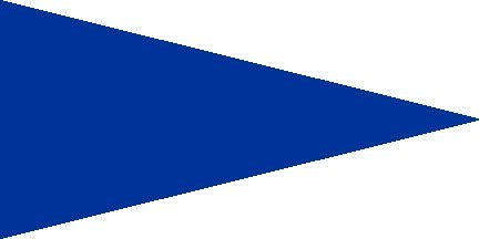 - ATV Safety Flags and Mounts Solid Blue Pennant Flag with 24