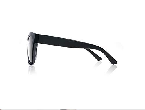 De De Gafas Gafas Polarizadas liwenjun Gafas Sol Gafas Espejo Plata Conduciendo Retro Sol De Conductor Sol Negro Marco 1qzdqAtIn