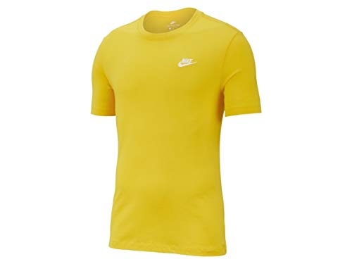 T Amarillo shirt T Nsw black Tee M Nike Club Homme wqCFXU